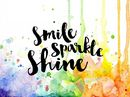 Visible Image Clear Stamp Set - Smile Sparkle Shine
